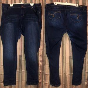 YMI WannaBettaButt? Dark Wash Skinny Jeans